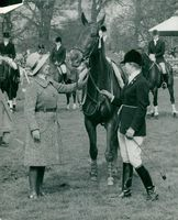 Princess Anne plays horse polo in Windsor Great Park