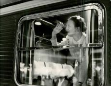 Queen Margrethe of Denmark embarked on a train at the Central for a trip to Copenhagen