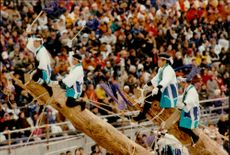 Performance during the opening of the Winter Olympics in 1998