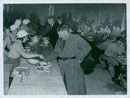 Country Storm Pictures where soldiers eat in the dining room.