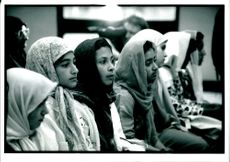 A photograph of a children of Islam.
