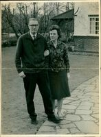 Christopher Mayhew with his wife.