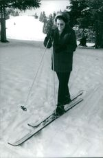 Princess Beatrix skiing, 1965.