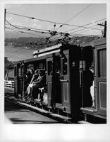 People aboard a train in New Zealand.