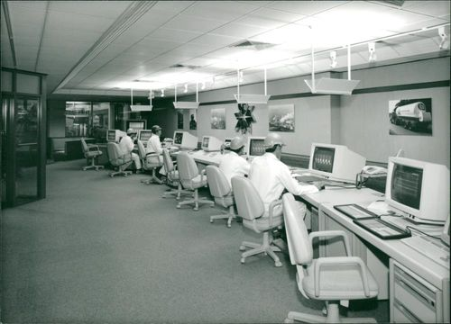 View of a room with lot of computer.