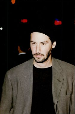 "Actor Keanu Reeves at the premiere of the movie ""Devil's Lawyer"""