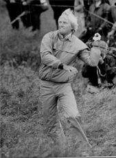 Golf player Greg Norman during the British Open 1986