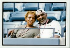 Venus and Serena Williams parents Richard Williams and Oracene Price of the stands during the daughters' participation at the US Open.