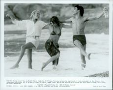 Daryl Hannah, Valerie Quennessen and Peter Gallagher in Summer Lovers