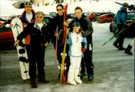 Bernie Ecclestone on ski holiday with his wife Slavicca and the daughters Tamara and Petra