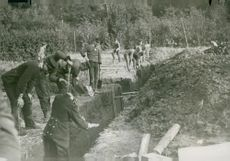 Trenches dug in Rosendal.