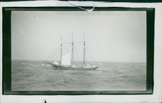General Byng America three-masted ship driven in the Atlantic