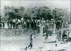 """The so-called """"Good Fence"""" separating Israel from southern Lebanon in 1977."""
