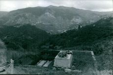 High angle view of a valley. 1969