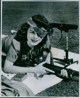 Texas shooting girl during the war, United States, 1943.