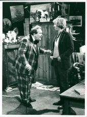 Sten-Åke Cederhök and Tomas von Brömssen in the TV series Albert & Herbert