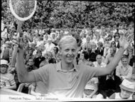 Tennis player Leif Johansson at the Champion Cup