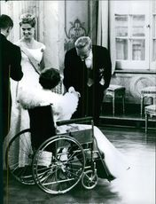 Princess Birgitta of Sweden and Prince Johann Georg of Hohenzollern in their marriage ceremony.