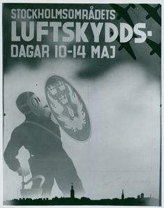 Poster for the Stockholm region´s air protection days 10 to 14 May