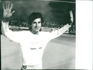 Sebastian Coe after recording the record of 1500 meters in Zurich