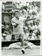 Mats Wilander plays in Wimbledon