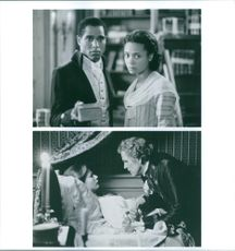 Two scenes from the film Jefferson in Paris with Seth Gilliam , Thandie Newton, Gwyneth Paltrow  and Nick Nolte, 1995.