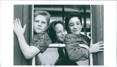 Patrick LaBrecque, Robert Hy Gorman and Thomas Ian Nicholas in the film Rookie of the Year, 1993.