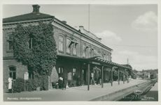 Ronneby. Railway station - postcard