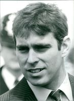Close up of Prince Andrew.