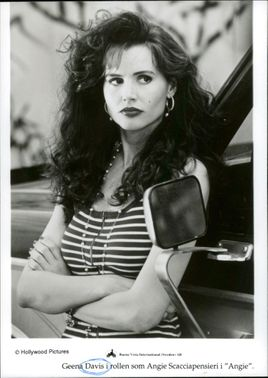 """Portrait image of actor Gena Davis in the role of Angie Scacciapensieri in """"Angie""""."""