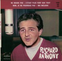 1966 Studio photo of a French singer from Cairo, Egypt Richard Anthony.