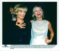 "Actresses Jessica Lange and Michelle Pfeiffer at the ""Thousand Acres"" premiere at Samuel Goldwyn Theater"
