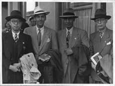 Men, including price prince Shinazu Tada, the Red Cross Congress