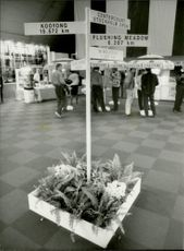 Exhibition hall during Stockholm Open 1987