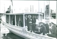 Queen Juliana and Prince Bernhard of the Netherlands on the boat.