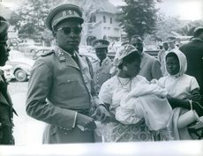General Mobutu with his family.
