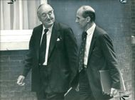Viscount William Whitelaw with Norman Tebbit