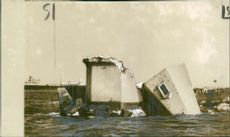 RMS Caronia:Ship the damage break water.