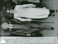 Bianca Jagger on his way to court for divorce with Mick Jagger
