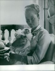 Queen Paola of Belgium with her newborn child.