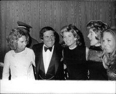 """Robert Francis """"Bobby"""" Kennedy`s wife with friends."""