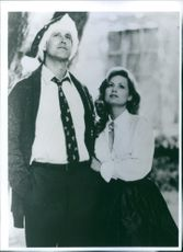 Chevy Chase and Beverly D'Angelo in a scene from the movie National Lampoon's Christmas Vacation, 1989.