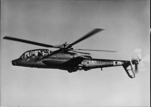 American military helicopter in the air.