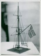 Model of the intended mast for the Maritime Museum