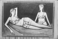 Painting with two women by Bernard Buffet