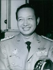 Portrait of a Chairman of the Presidium; Presidium Minister for Defence and Security; Commander-in-Chief of the Army General Suharto.
