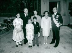 Israeli President Chaim Herzog with Aura Aura together with the Royal Family