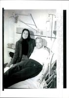 John Simpson with his wife.