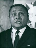 Portrait of Burmese politician U.Nu, 1970.