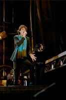 Mick Jagger performs with Rolling Stones at Soldier Field in Chicago